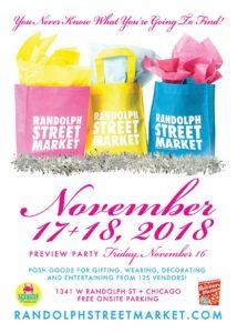 Randolph Street's Holiday Market November 2018