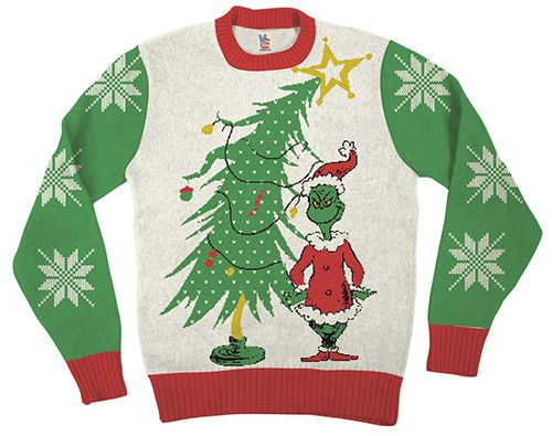 The Christmas Sweater and Holiday Pins