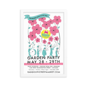 Randolph Street Market May 2016 Garden Party 12 x 18 Poster (Framed)