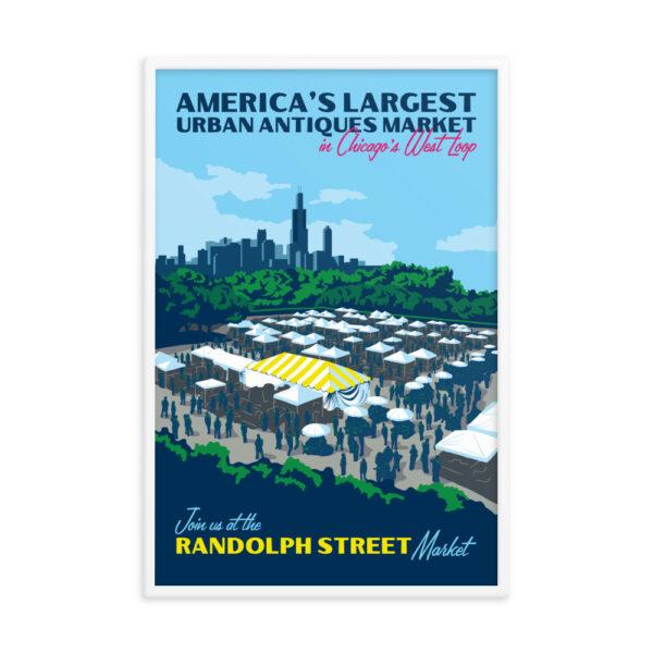 Randolph Street Market West Loop 24 x 36 Poster (Framed)