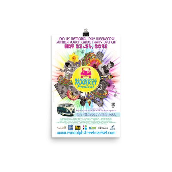 Randolph Street Market May 2015 12 x 18 Poster (Unframed)