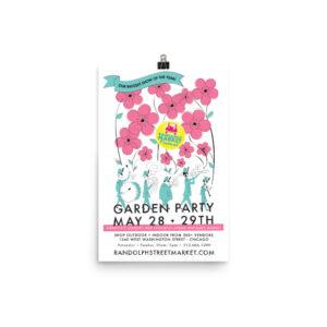 Randolph Street Market May 2016 Garden Party 12 x 18 Poster (Unframed)
